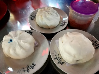 Steam cooked buns.