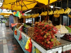Fruit stall with Rambuteens.