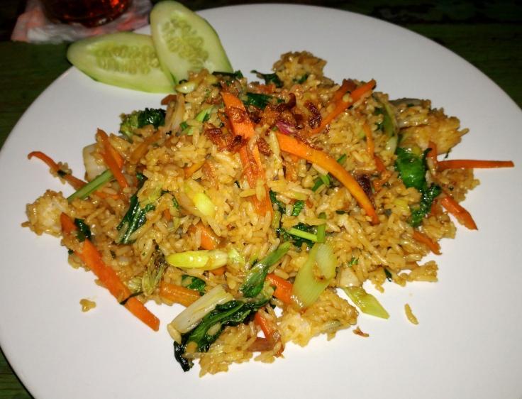 Nasi Goreng - fried rice (vegan).