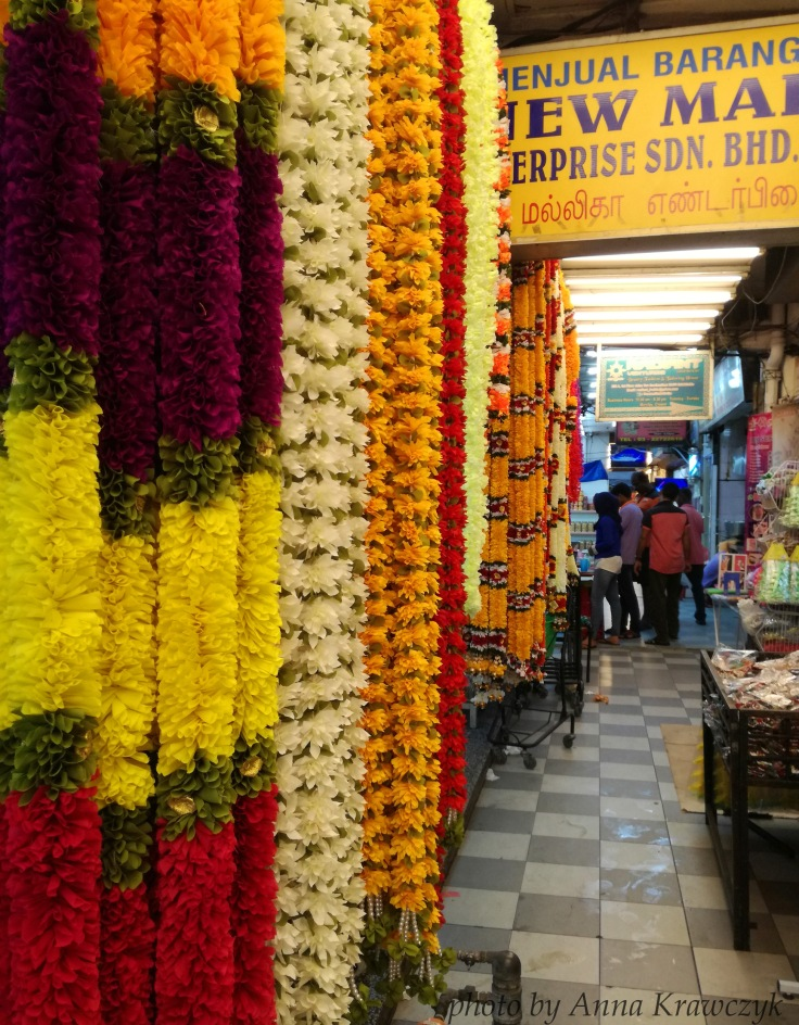 Flowers sold in Brickfield - Little India.