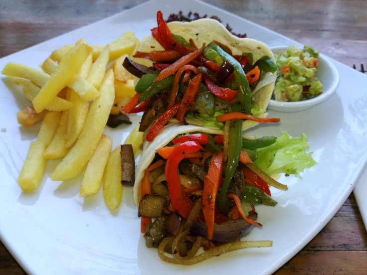 I asked for a vegetarian fajitas, although on menu there was only meat version. The cook did a great job.