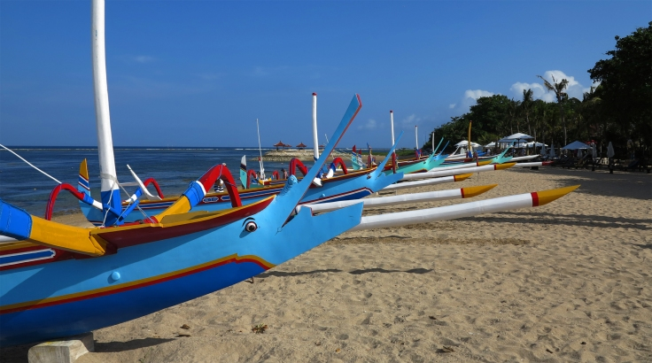 Beach in Sanur, Bali.