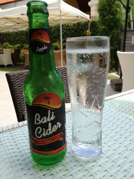 Bali Cider - I had to mix it with a normal beer to be able to drink it - so sweet!