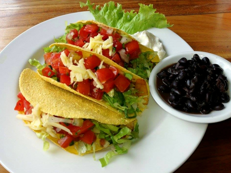 Vegetarian Tacos with black beans.