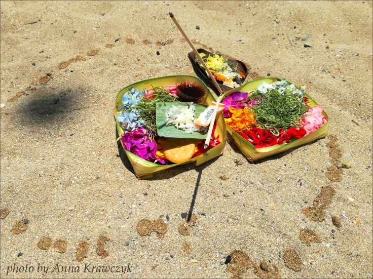 Offerings on the beach.