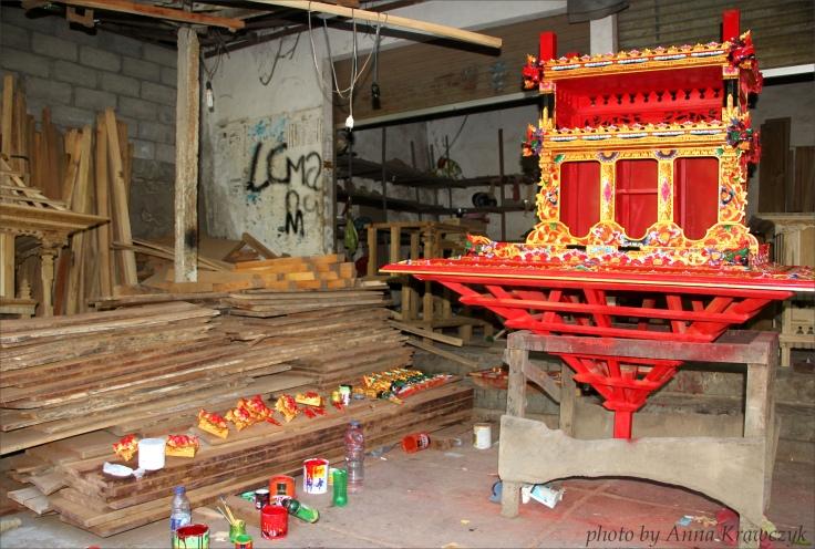 Temple under construction.